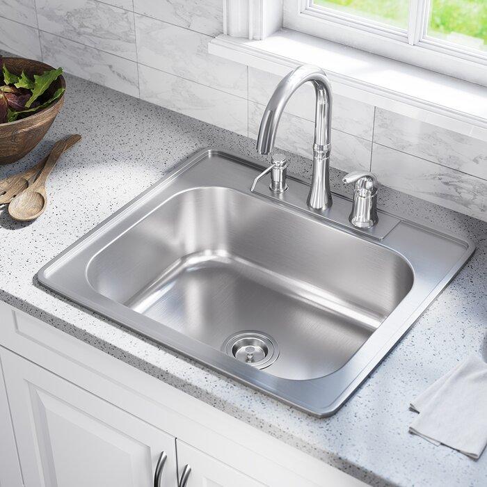 Sensational Stainless Steel 25 X 22 Drop In Kitchen Sink Interior Design Ideas Gentotryabchikinfo