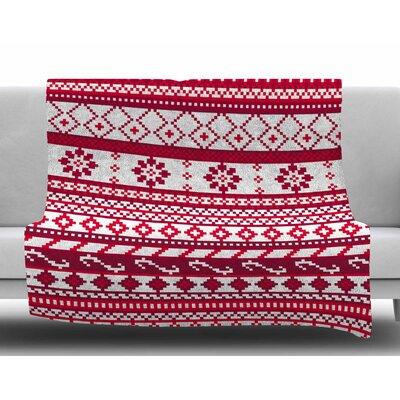 Ivy Bronx Estes Holiday Argyle Plush Fleece Throw Blanket ...
