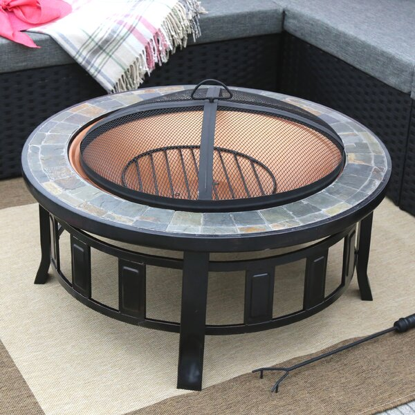 Steel Wood Burning Fire Pit Table & Reviews | Birch Lane