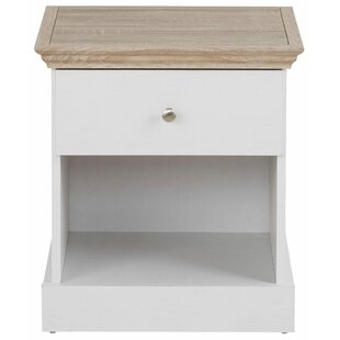 Bruce 1 Drawer Bedside Table By Hokku Designs