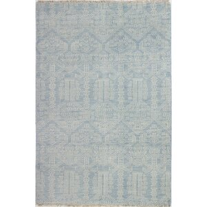 Ferran Hand-Knotted Light Blue Area Rug