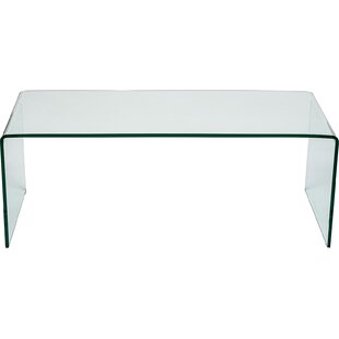 Curved Clear Gl Coffee Table