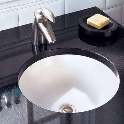 orbit circular undermount bathroom sink with overflow
