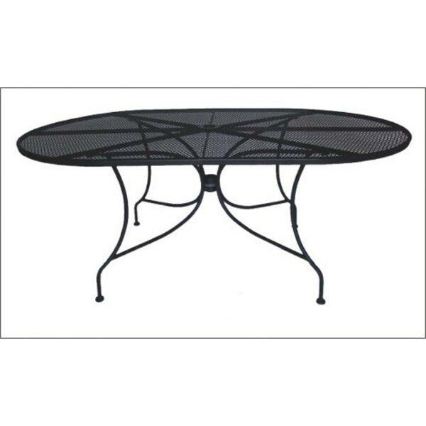 DC America Charleston Oval Wrought Iron Dining Table U0026 Reviews | Wayfair