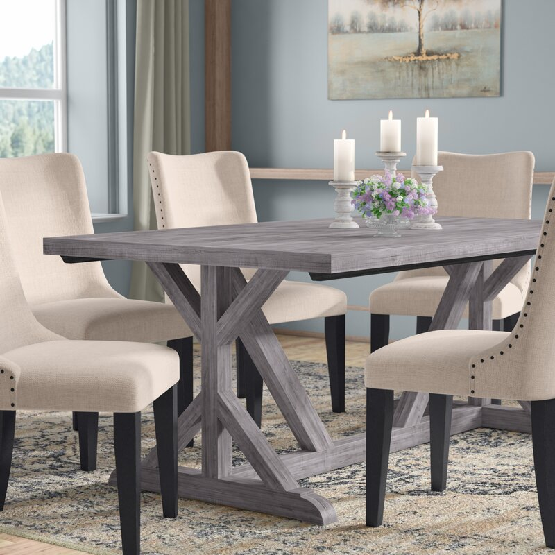 Laurel Foundry Modern Farmhouse Hollomon Trestle Dining Table ...