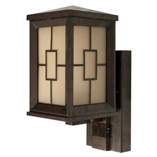 Motion sensor outdoor wall lighting youll love wayfair motion activated 1 light outdoor sconce aloadofball Image collections