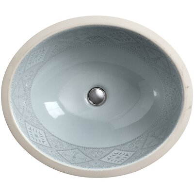 Undermount Bathroom Sink kohler artist editions caravan oval undermount bathroom sink | wayfair