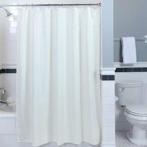 satin stripe fabric shower curtain