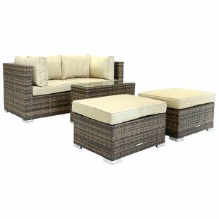 Verona 4 Seater Rattan Effect Sofa