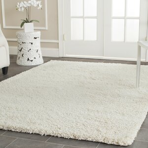 Yoan Shag and Flokati Ivory Area Rug