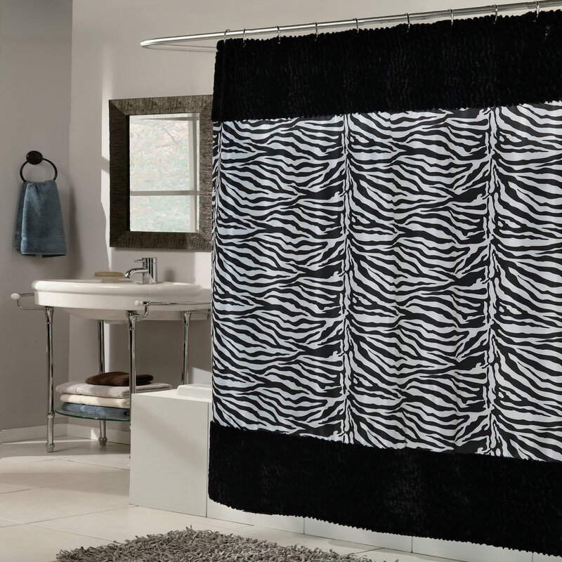 Sweet Home Collection Zebra Shower Curtain