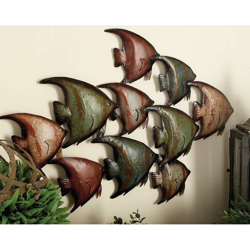 Metal Fish Wall Decor Jt Home And Away