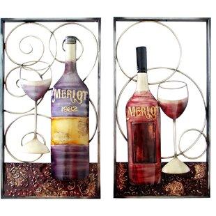 Wine Themed Metal Wall Art Wayfair