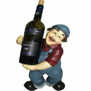 Bowdoin Farmer 1 Bottle Tabletop Wine Bottle Rack by Fleur De Lis Living