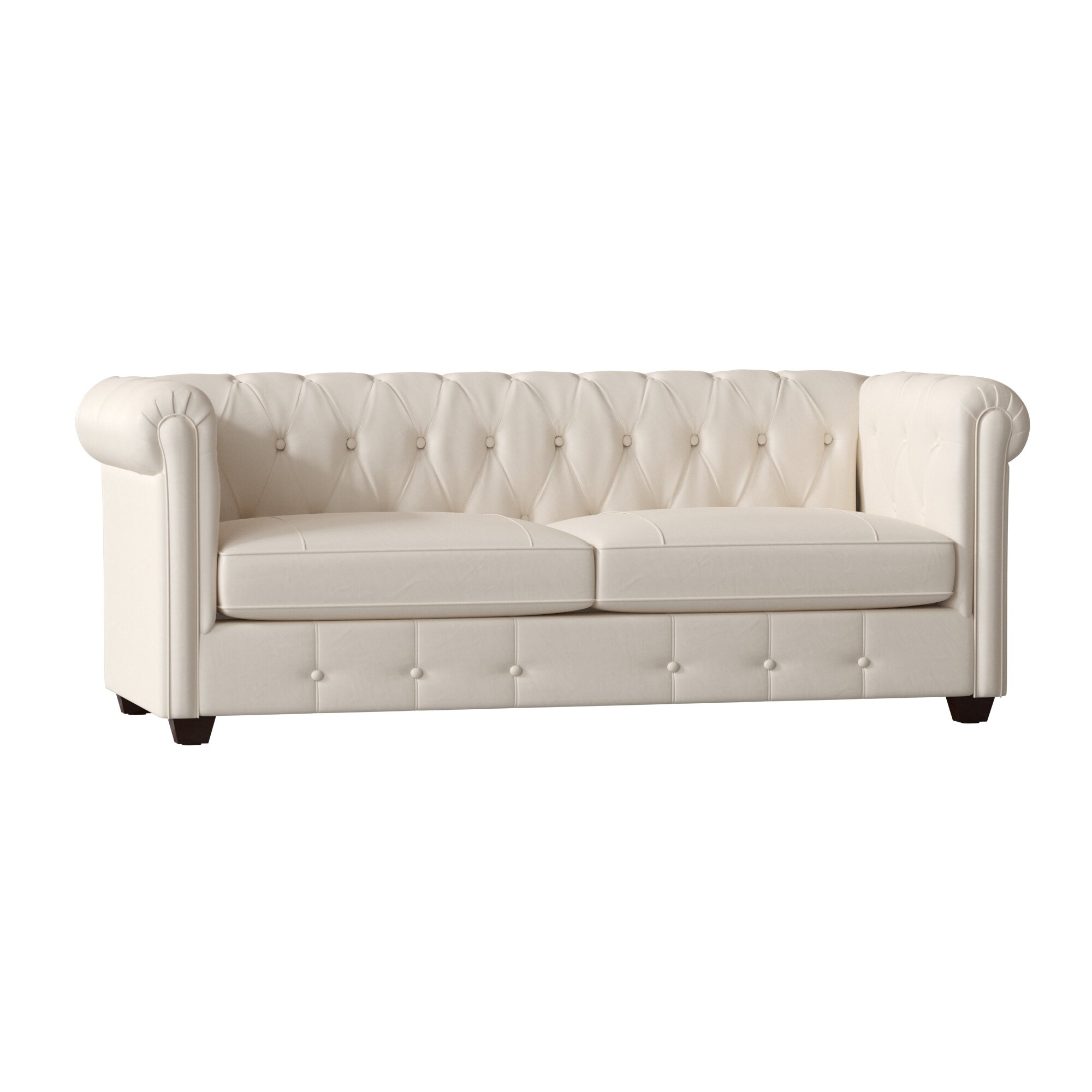 Birch Lane Heritage Hawthorn Leather Chesterfield Sofa Reviews
