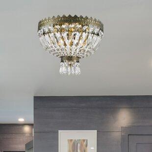 Hampton bay ceiling light wayfair brooks bay 3 light flush mount aloadofball Image collections