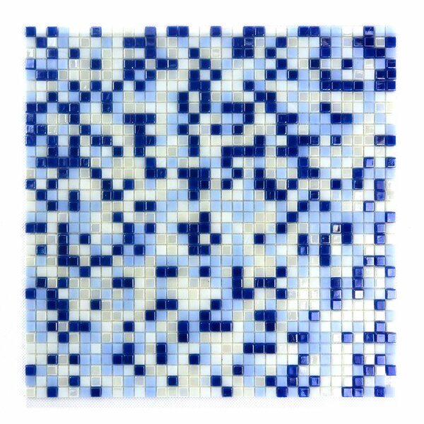 Abolos Galaxy Straight 0 31 X Gl Mosaic Tile In Blue White Wayfair