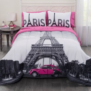 Paris Eiffel Tower Comforter Set
