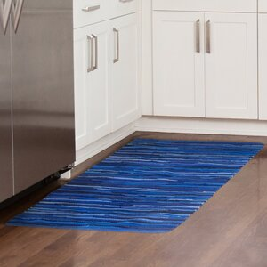 Sandeep Accent Hand-Woven Blue Area Rug