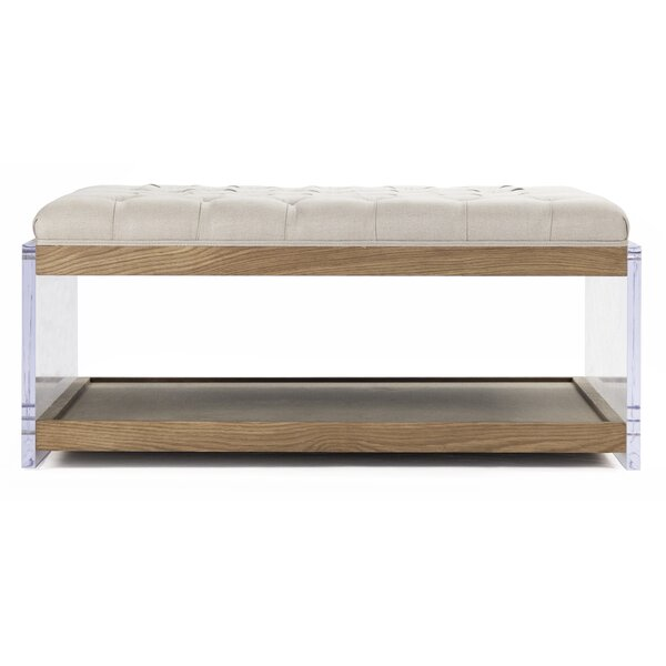 Ottoman With Shelf | Wayfair