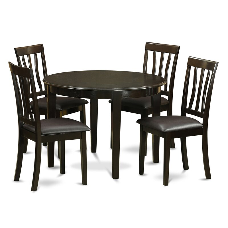 Wooden Small Dining Table And 2 Chairs Set Contemporary: Wooden Importers Boston 5 Piece Dining Set