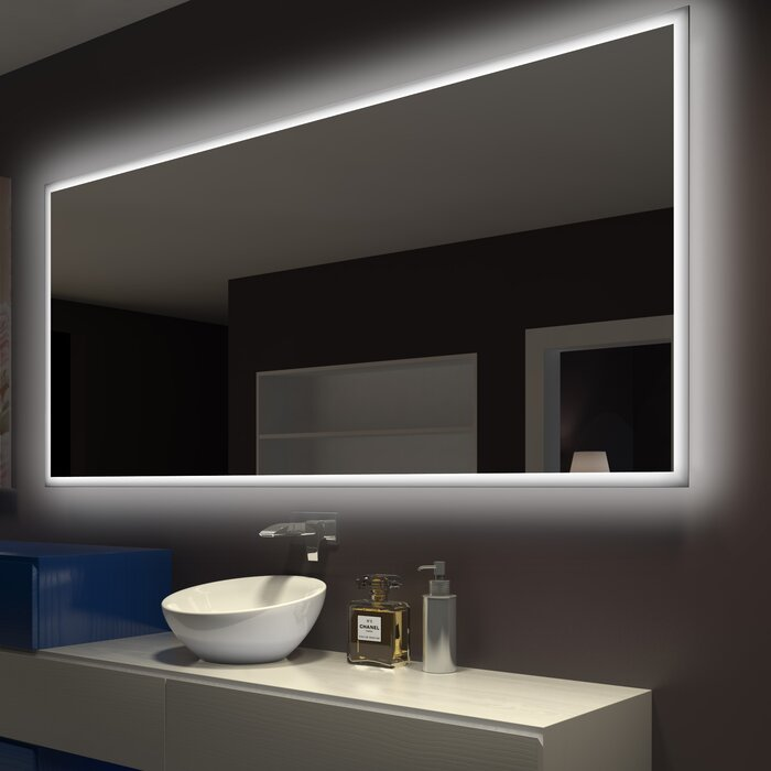 Superbe Rectangle Backlit Bathroom/Vanity Wall Mirror