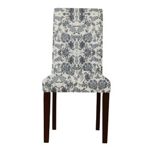 Lattimore White/Gray Upholstered Parsons Chair (Set of 2) by Red Barrel Studio