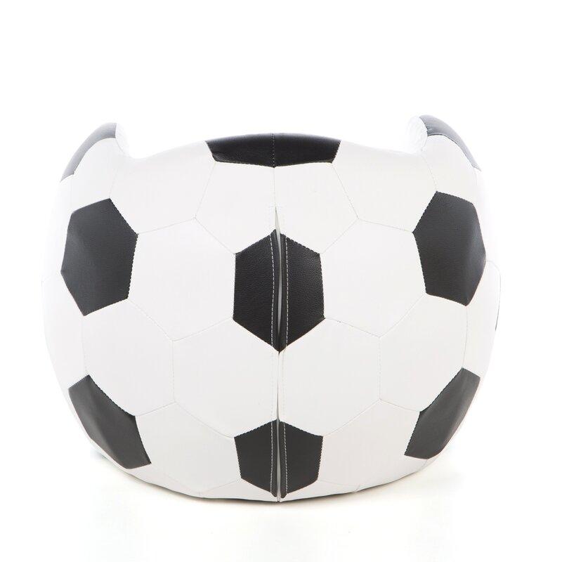 Merveilleux Soccer Ball Kids Novelty Chair And Ottoman