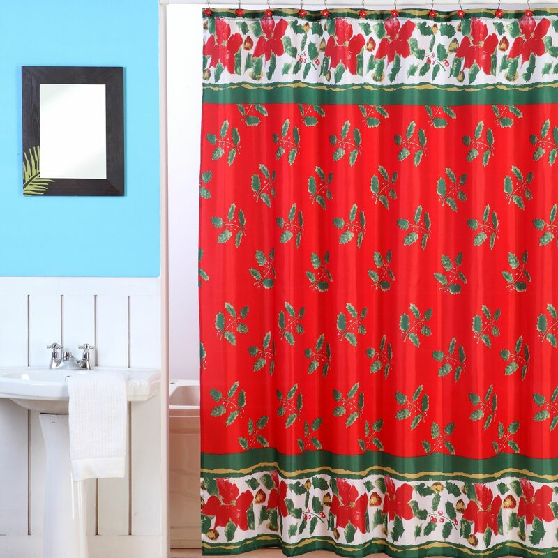 Dainty Home Christmas Shower Curtain Set Reviews