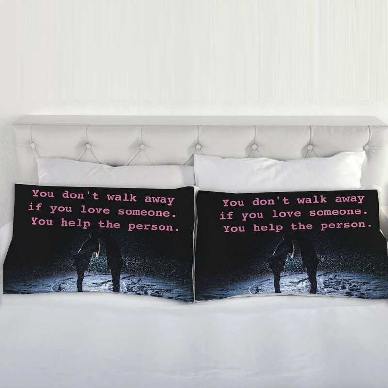 Biggleswade Hillary Clinton Quote You Don\'t Walk Away if You Love Pillow  Case