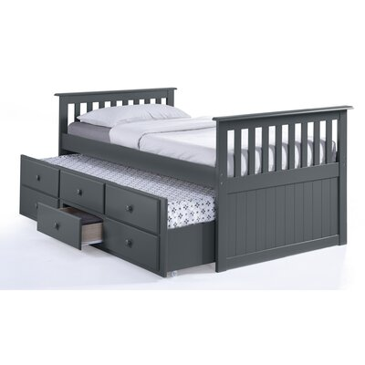 Broyhill® Marco Island Captain's Bed with Trundle Bed and Drawers Color: Gray, Size: Full
