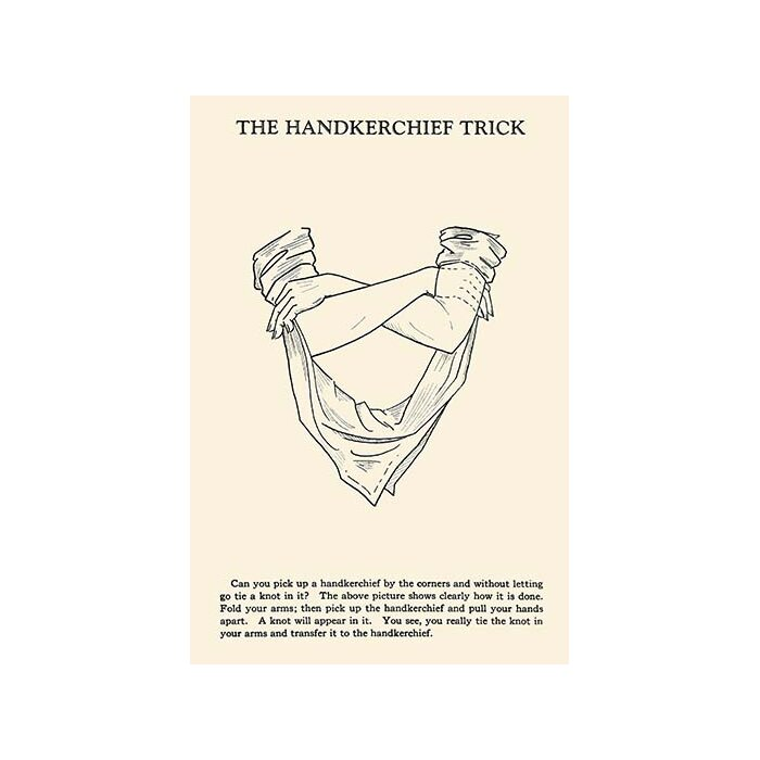 'The Hankerchief Trick' by Harry Houdini Graphic Art