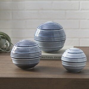 Baker 3 Piece Sphere Sculpture Set