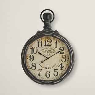 Well-liked Wall Pocket Watch Clock   Wayfair GV77
