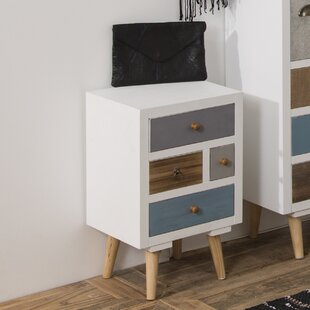 Amazing Kourtney 4 Drawer Bedside Table