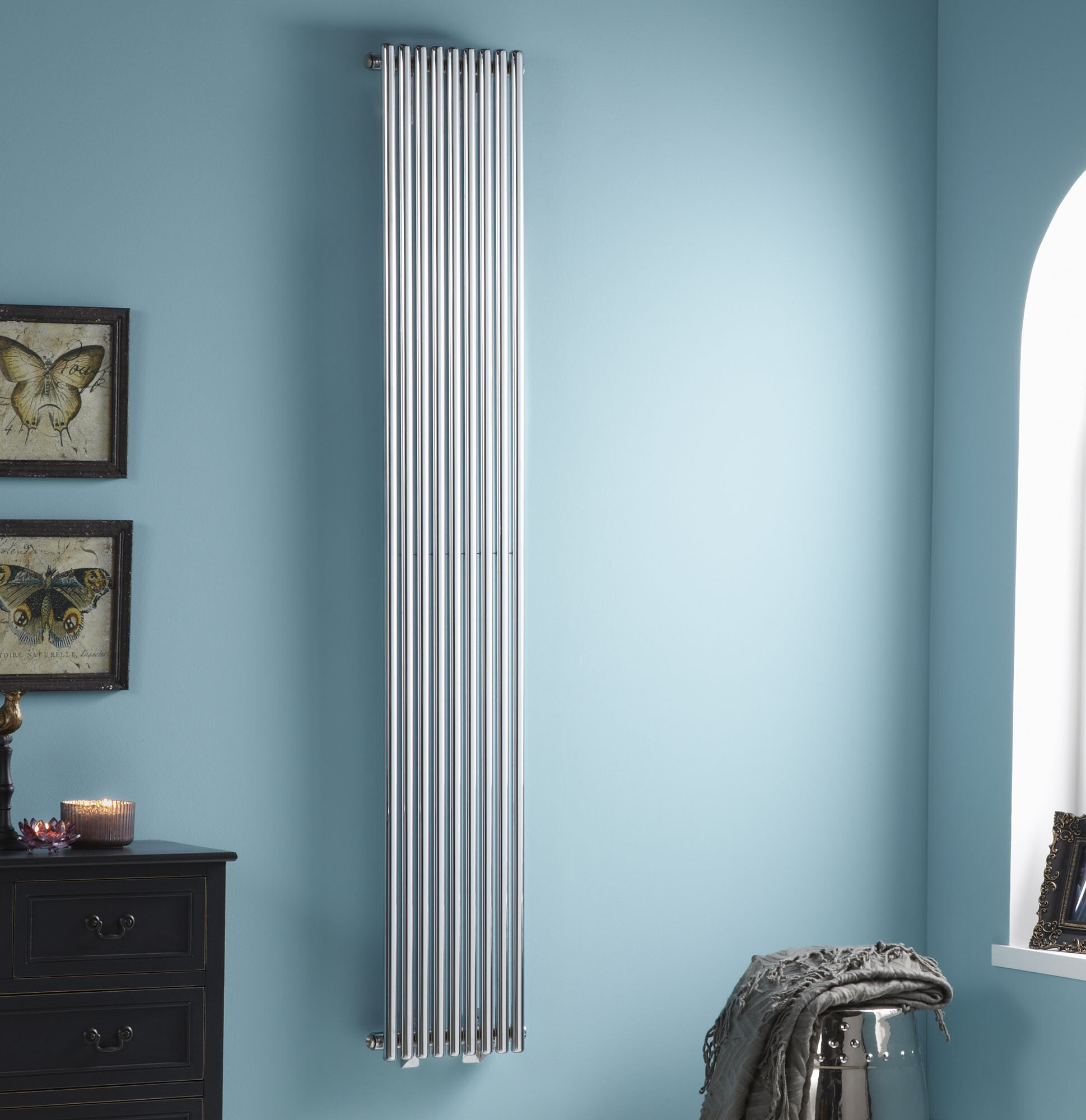 Belfry Heating Iridio Small Vertical Designer Radiator | Wayfair.co.uk
