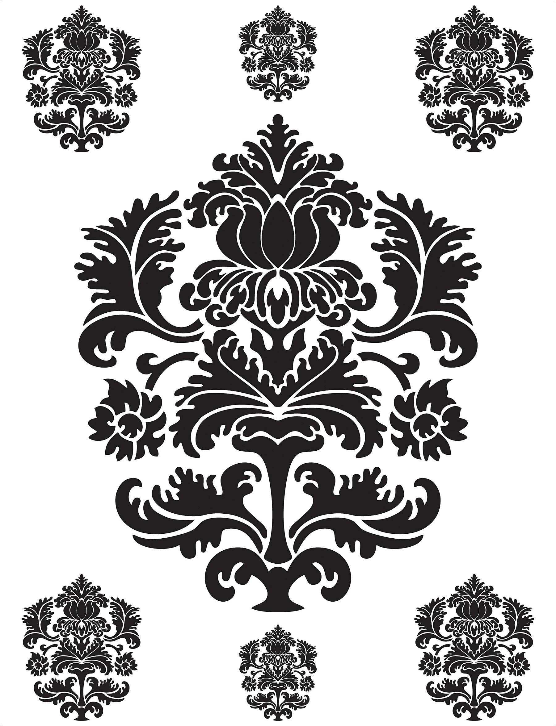 sc 1 st  Wayfair & Brewster Home Fashions Spirit Damask Wall Decal | Wayfair