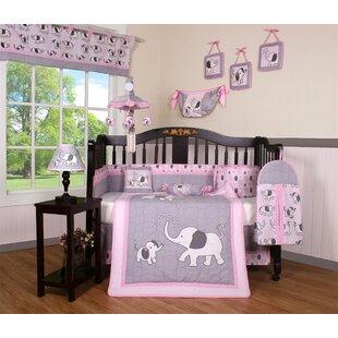 Elephant Dynasty Boutique 13 Piece Crib Bedding Set