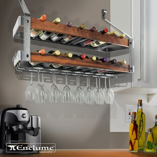 Signature Double 16 Bottle Wall Mounted Wine Rack