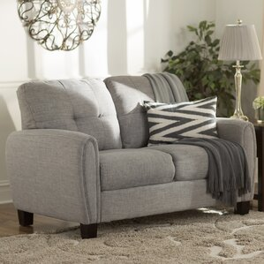 Three Posts Derry Upholstered Loveseat Image