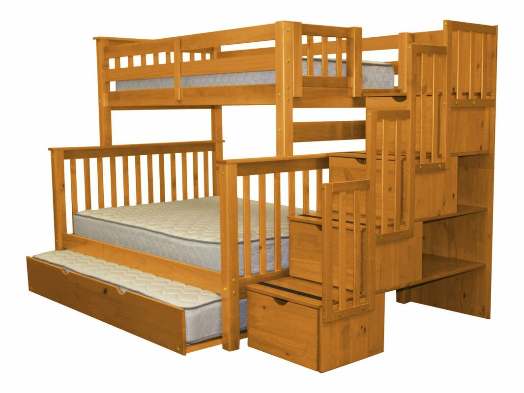 Wayfair Bunk Beds Twin Over Full With Trundle