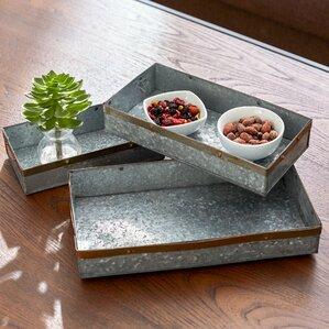 Rectangle 3 Piece Tray Set