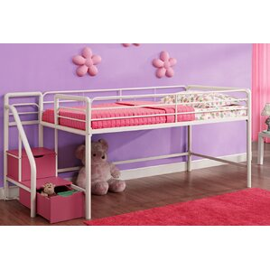 catalina junior twin loft bed with storage - Kids Bed Frame