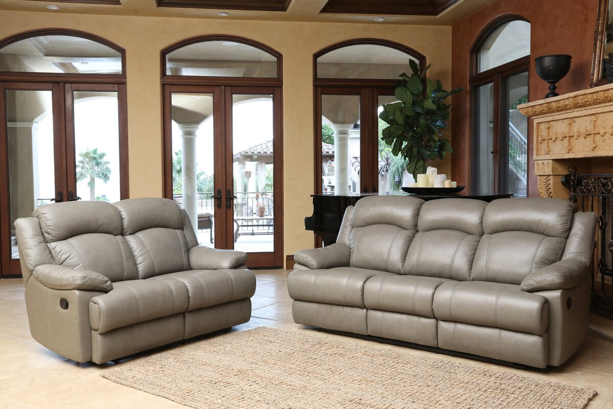Darby home co cuyler 2 piece leather living room set reviews 2 piece leather living room set