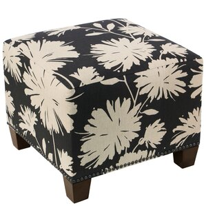 Clowers Square Nail Button Ottoman by Red Barrel Studio