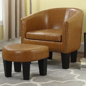 Mohamud Barrel Chair and Ottoman