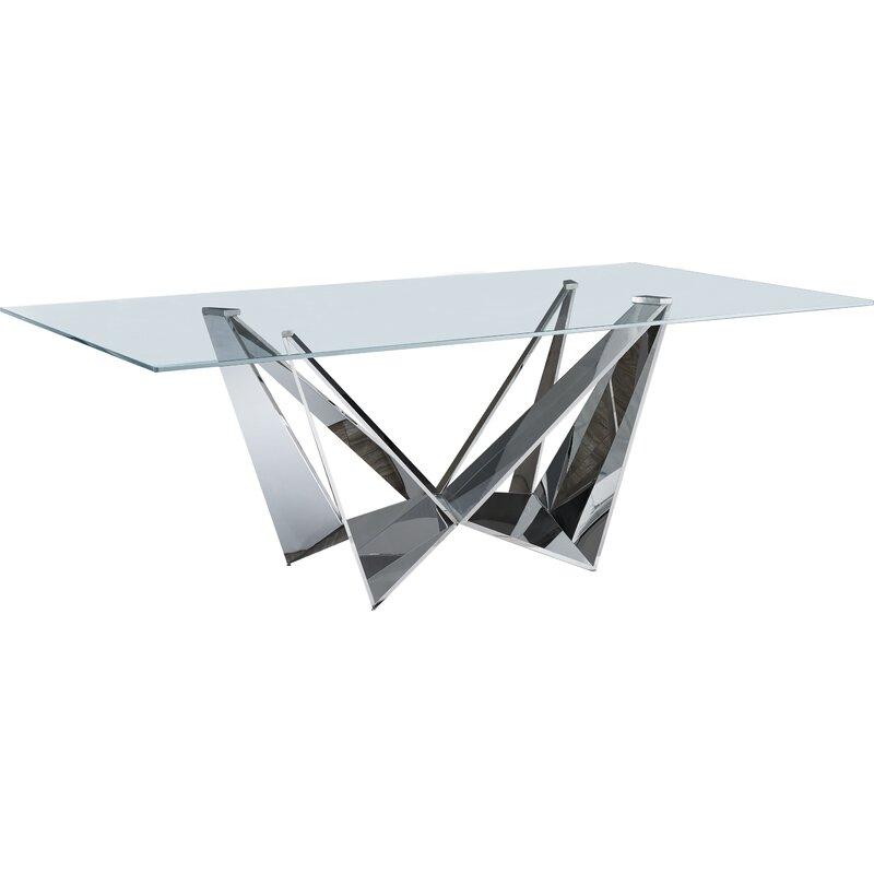 orren ellis fish dining table wayfair rh wayfair com Dining Table Wood Dining Chairs