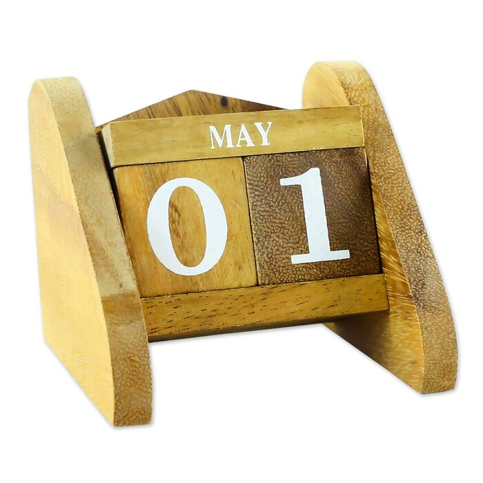 Time Catcher Wood Desk Calendar