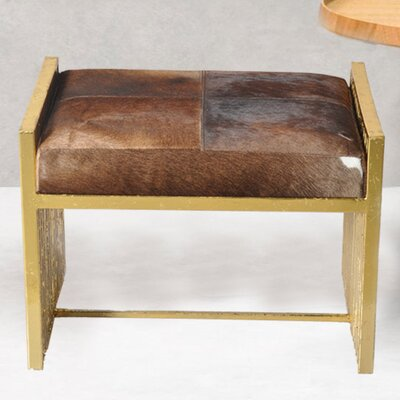 Vanity Stool Fashion N You Upholstery Color: Brown