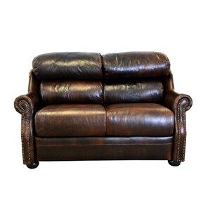 Beacon Genuine Top Grain Leather Loveseat by Westland and Birch